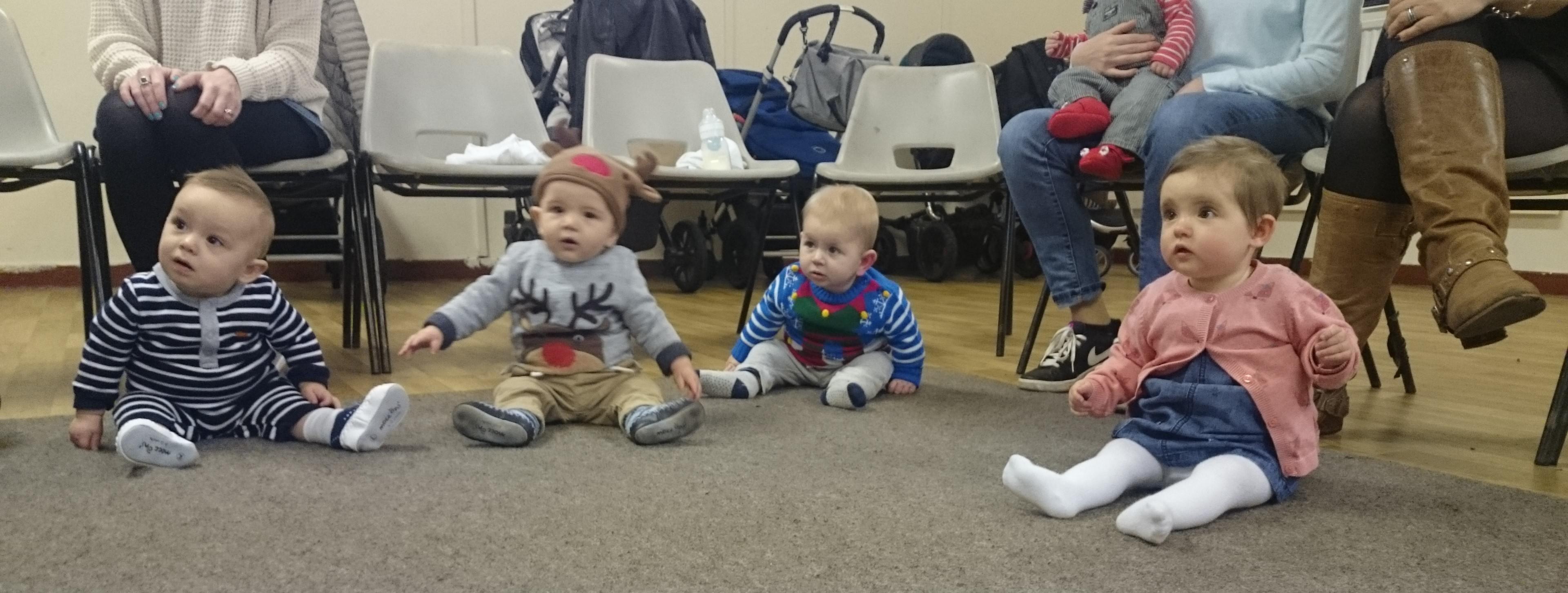 Little Music Makers gazing at Owen